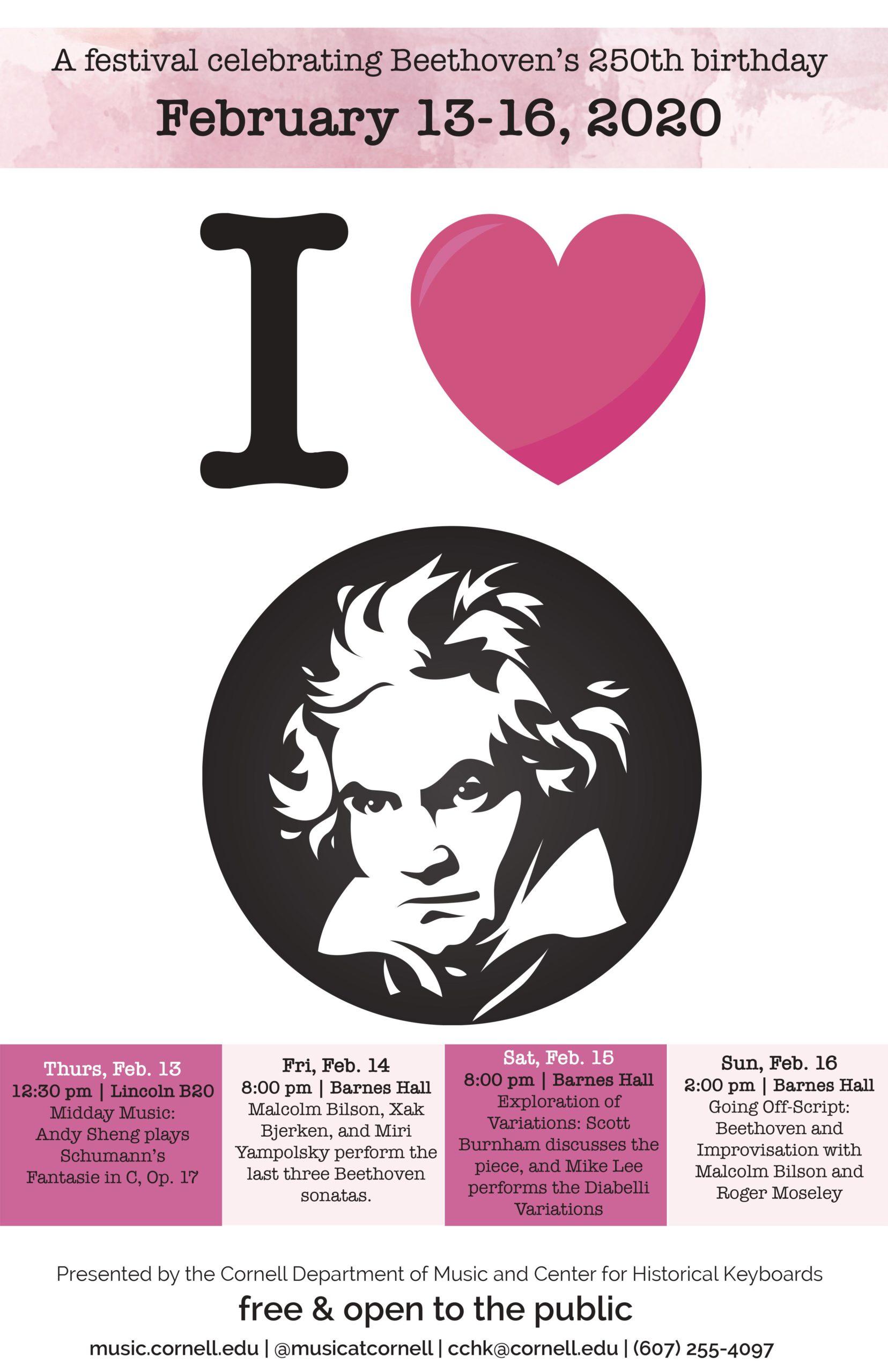 I Heart Beethoven poster, February 2020