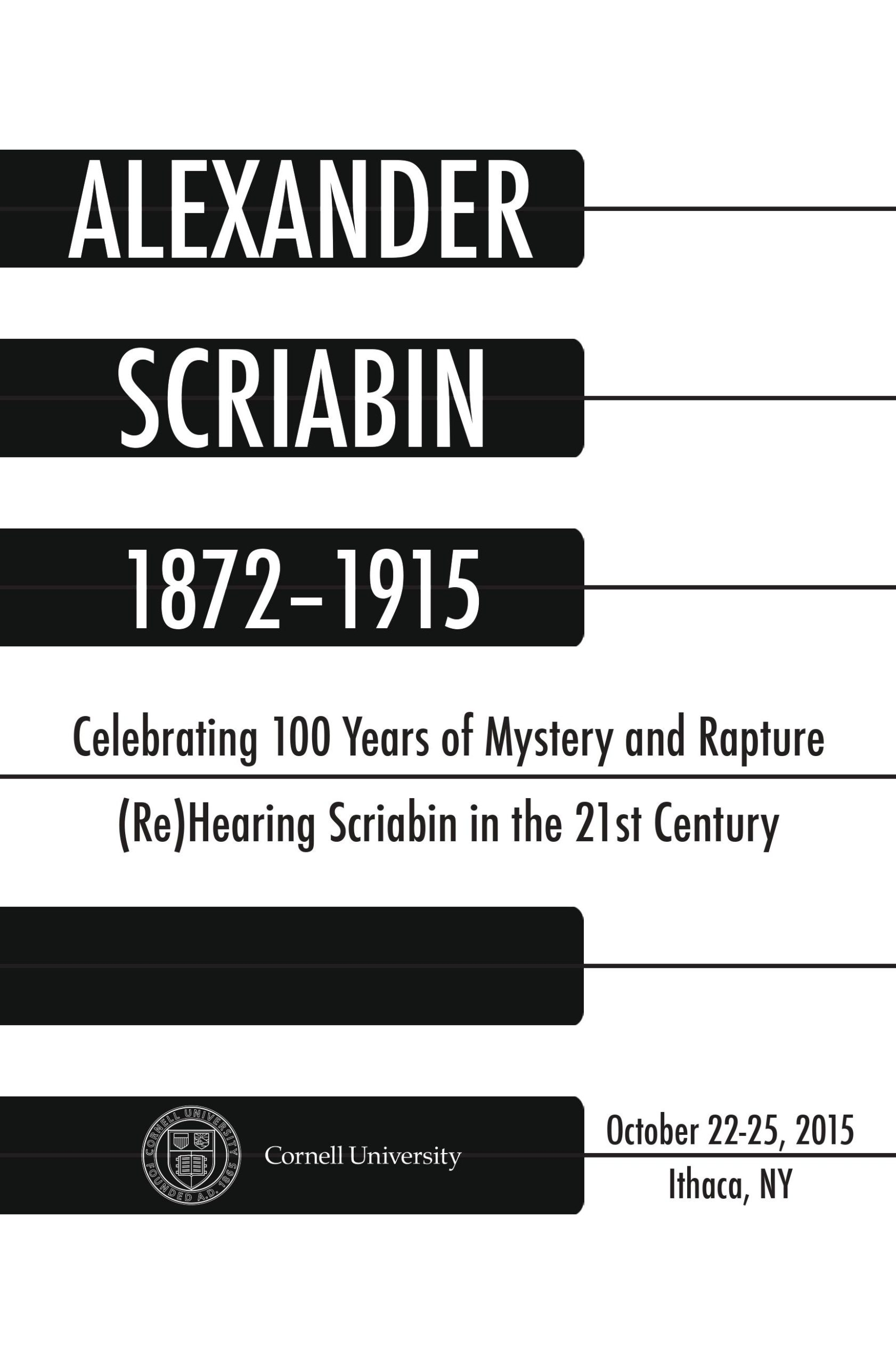 Poster for Alexander Scriabin: Celebrating 100 Years of Mystery and Rapture