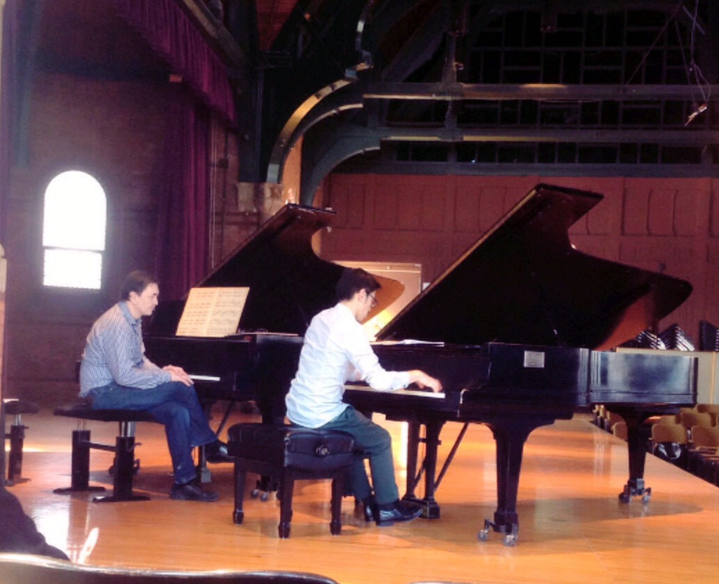 Pierre-Laurent Aimard giving a masterclass on Messiaen's Le Courlis cendré to Andrew Zhou