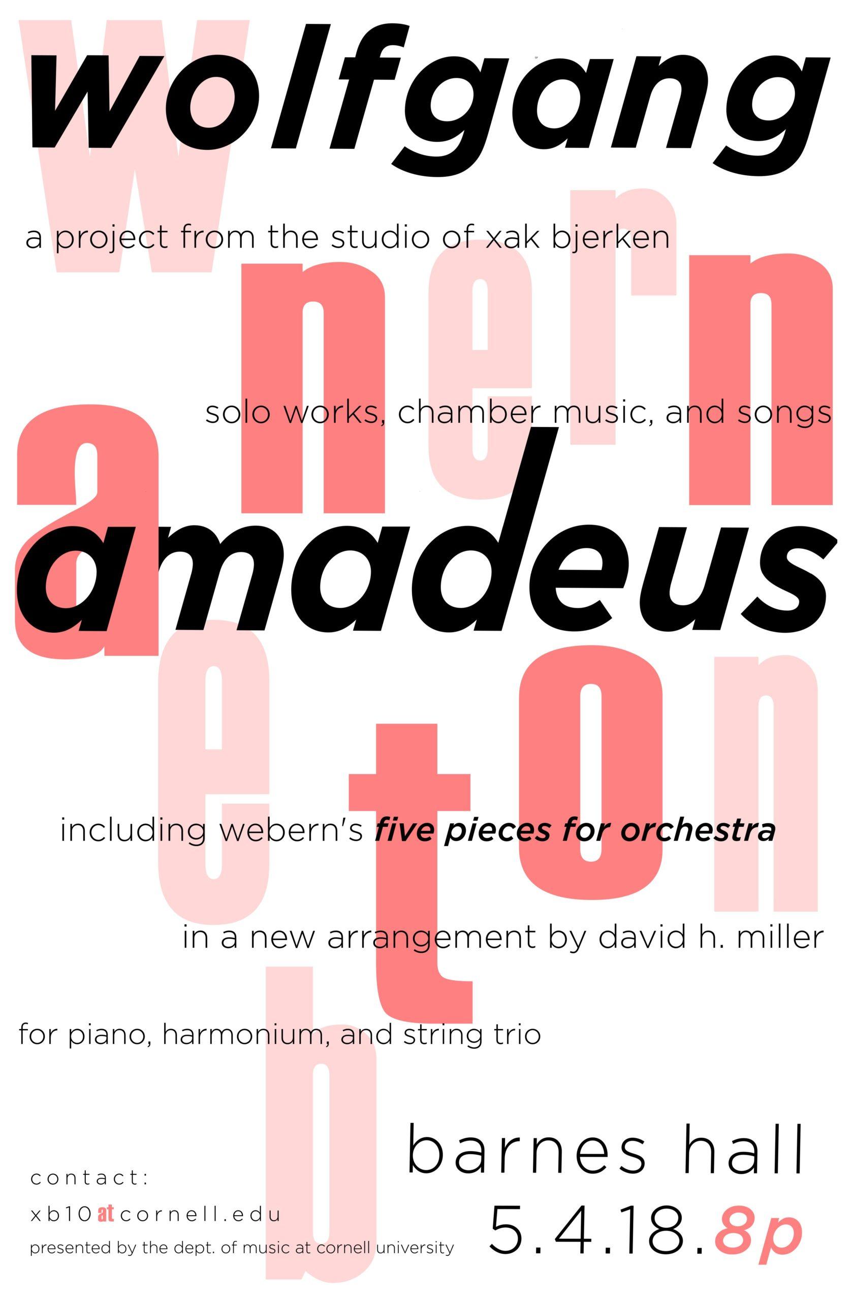 Anton/Amadeus Poster, May 2018